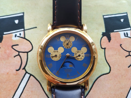 Lorus Disney Mickey Mouse Moonphase Wristwatch V33F-6C40 RO