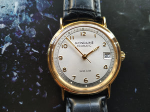 Tickdong Vintage Watches | Mondaine Ecomatic Wristwatch