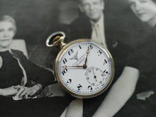 Load image into Gallery viewer, Cortebert Turkis Rail Road Pocket Watch
