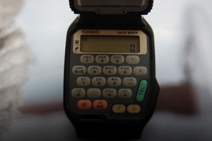 Casio Flip Top Data Bank Calculator Wristwatch FTP 30