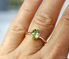 Load image into Gallery viewer, 14k Gold Peridot Ring