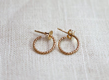 Load image into Gallery viewer, Gold Twisted Hoop Earrings, Dainty Gold Hoop Earrings