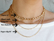 Load image into Gallery viewer, Gold Chunky Necklace,  Gold Filled Thick Chain Necklace