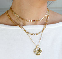 Load image into Gallery viewer, Curb Gold Chain Necklace, Gold Layering Necklace