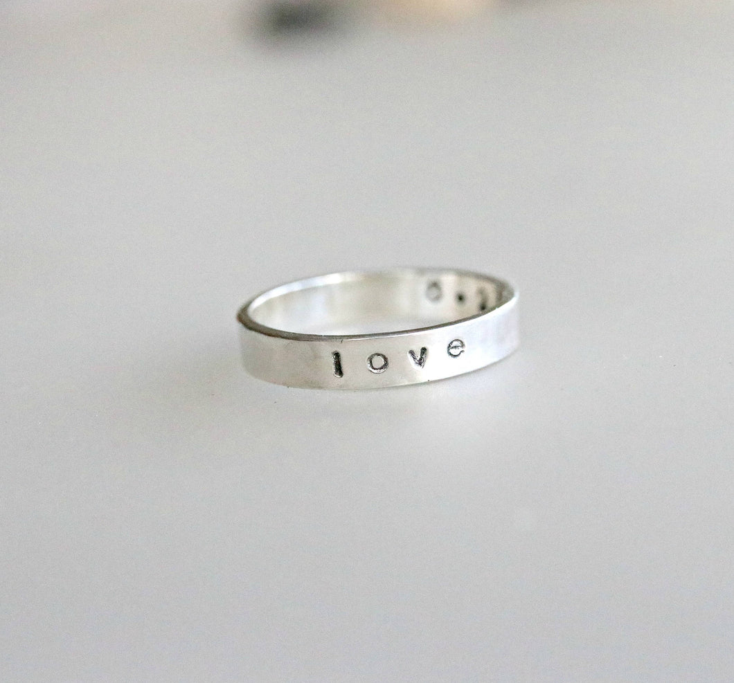 Personalized Stackable Ring, Mother's Day Gift