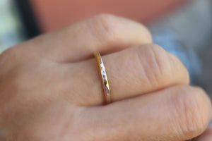 14k Gold Wedding Band, Stacking Rings