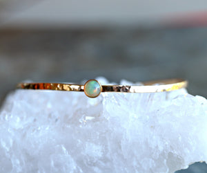 Birthstone Cuff Bracelet, London Blue Topaz Cuff