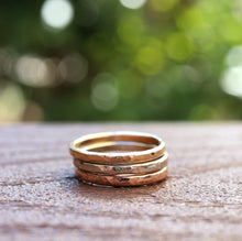 Load image into Gallery viewer, 14k Gold Wedding Band, Stacking Rings