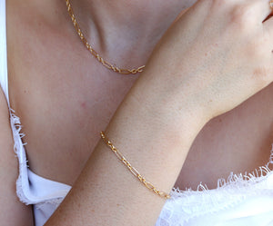 Dainty Gold Filled Layering Link Chain Bracelet