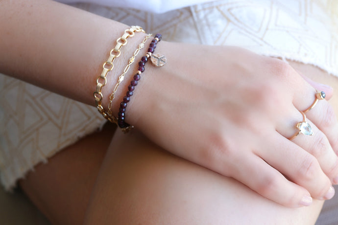 Gold Filled Thick Chain Bracelet