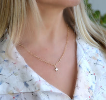 Load image into Gallery viewer, Gold Layering Star Necklace, Gold Filled Star Charm