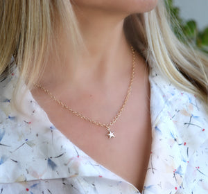 Gold Layering Star Necklace, Gold Filled Star Charm