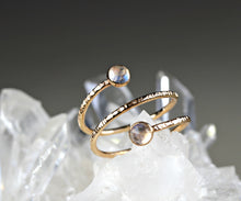 Load image into Gallery viewer, Rainbow Moonstone Spiral Ring in Gold Filled or Sterling Silver - Special Design