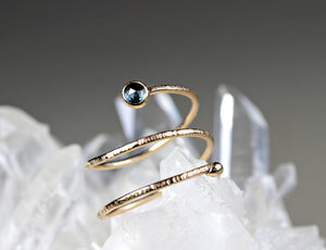 14k Gold London Blue Topaz Wrap Around Ring