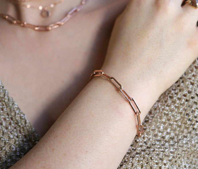Rose Gold Filled Chunky Bracelet
