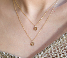 Load image into Gallery viewer, Personalized Layered Rose Gold Necklaces, Set of Two