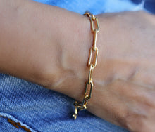 Load image into Gallery viewer, Gold Chunky Bracelet, Gold Filled Link Chain Bracelet