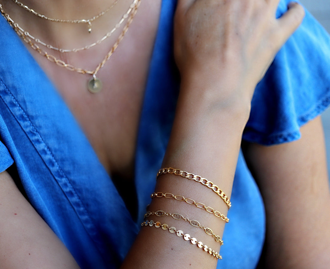 Gold Chunky Chain Stacking Bracelet