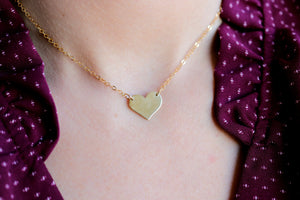 14k Gold Heart Personalized Necklace