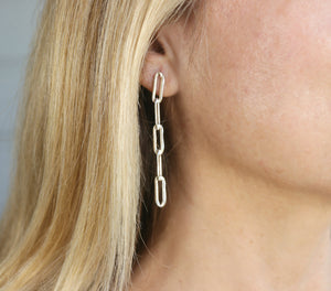 Gold Thick Chain Earrings