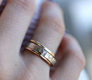 Silver, Gold and Rose Gold Set of 3 Ring