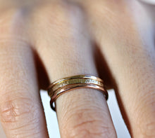 Load image into Gallery viewer, Gold Stacking Rings, Set Of 3 Rings
