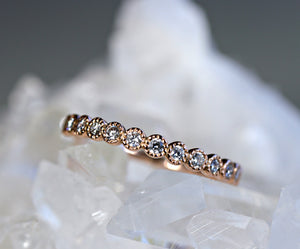 Half Eternity Bezel Set Diamond Wedding  Band