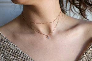 Personalized Dainty Gold Chain Choker