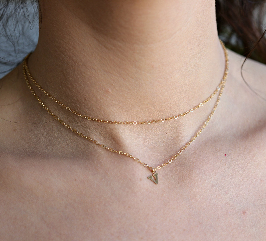 Gold Initial Personalized Necklace, Custom Name Necklace