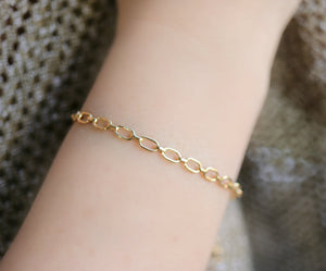 Gold Thick Chain Bracelet, Gold Layering Bracelet