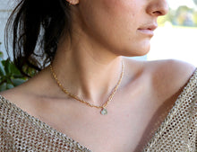Load image into Gallery viewer, Personalized Heart Gold Chain Necklace, Initial Gold Filled Layering Necklace