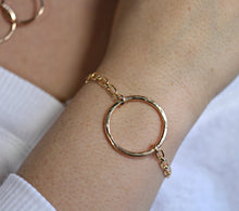 Load image into Gallery viewer, Hammered Big Bold Open Circle Bracelet