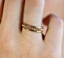 Load image into Gallery viewer, Beaded 14k Gold Stacking Rings, Set Of 3 Rings