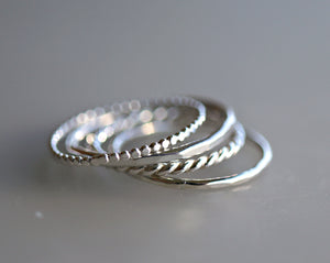 Stack Ring Set of Five or Four