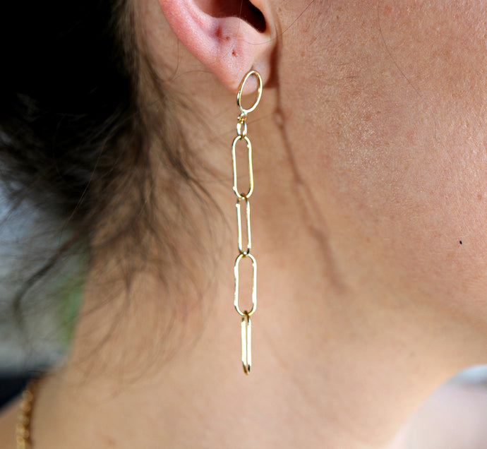 Gold Chain Minimal Earrings