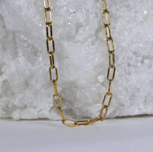 Load image into Gallery viewer, Gold Filled Paper Clip Chain Necklace