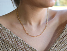 Load image into Gallery viewer, Thick Gold Chain Necklace, Gold Layering Necklace, Bold Chain Necklace