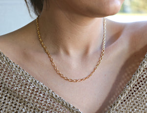 Thick Gold Chain Necklace, Gold Layering Necklace, Bold Chain Necklace