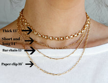 Load image into Gallery viewer, Dainty Long Short Link Gold Chain Necklace- Gold Filled