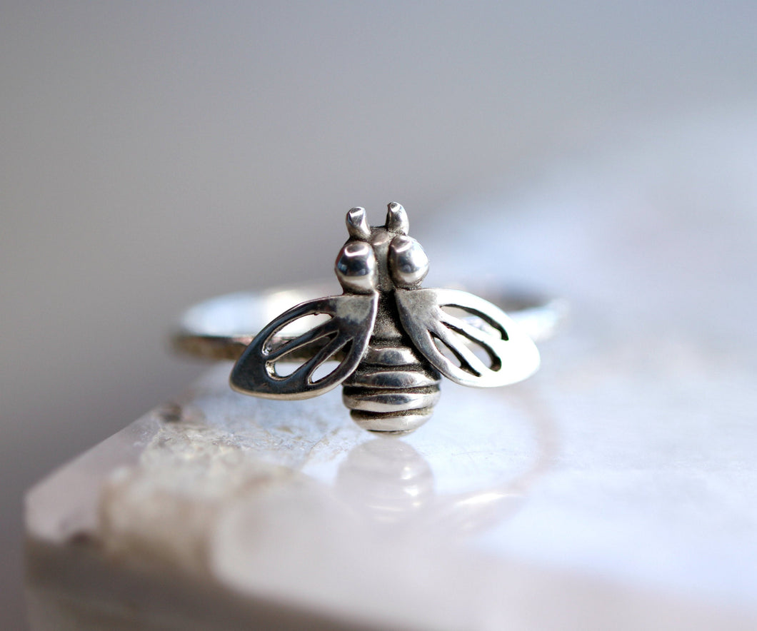 Sterling Silver Honey Bee Ring