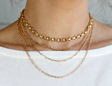 Load image into Gallery viewer, Gold Chunky Chain Necklace