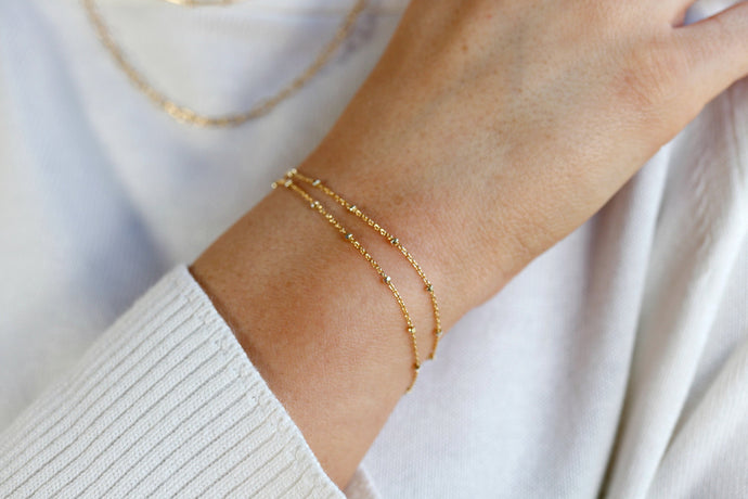 Satellite Chain Bracelet Gold Filled