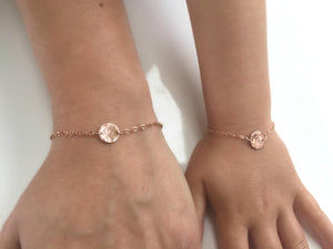 14k Gold Filled Personalized Initial Baby and Kids Bracelet