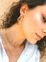 Load image into Gallery viewer, Hammered Gold Large Hoop Earrings