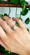 Load image into Gallery viewer, 14k Gold Pear Cut Rainbow Moonstone Ring