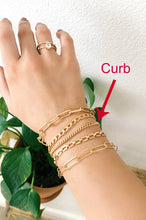 Load image into Gallery viewer, Gold Curb Chain Bracelet