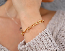 Load image into Gallery viewer, Gold Filled Chain Bracelet, Chunky Chain Bracelet