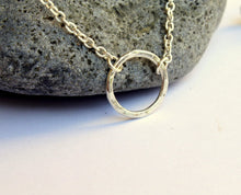 Load image into Gallery viewer, Eternity Sterling Silver Necklace, Good Karma Necklace, Circle of Life Necklace