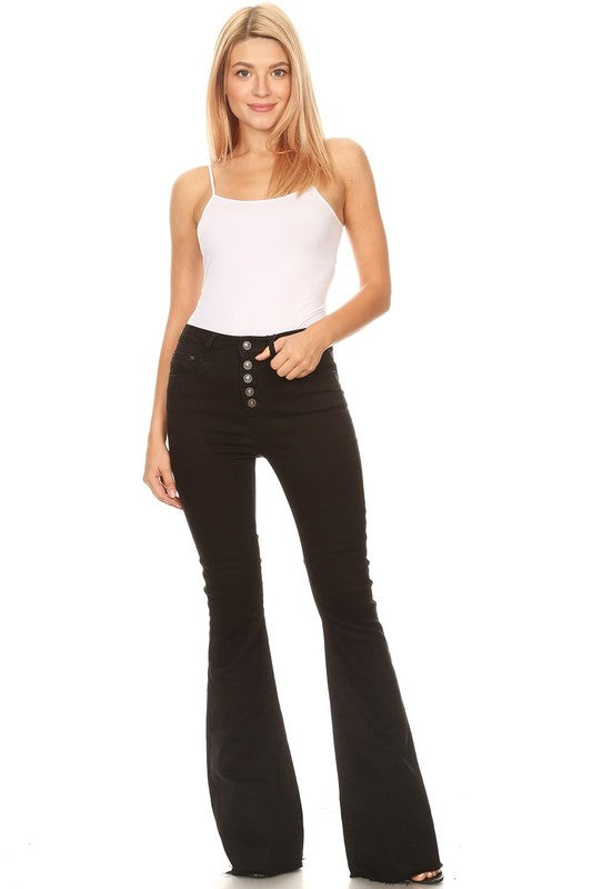 Black Flare Denim Jeans