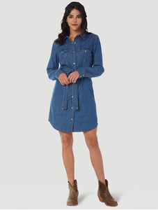 Wrangler Denim Snap Dress